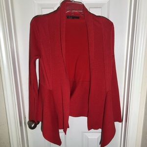 89th & Madison Red Sweater Cardigan Small